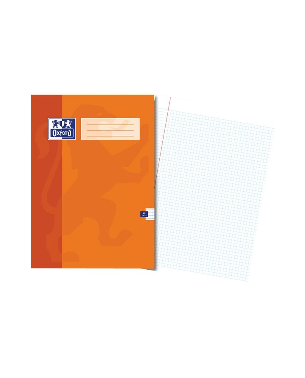 A4 Oxford Exercise Book - 48Pg 5mm Sq Orange