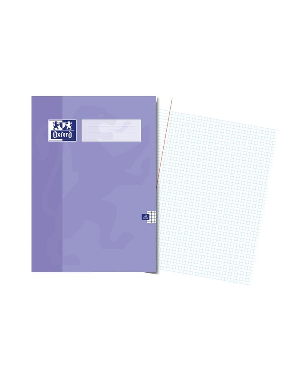 A4 Oxford Exercise Book - 48Pg 5mm Sq Purple