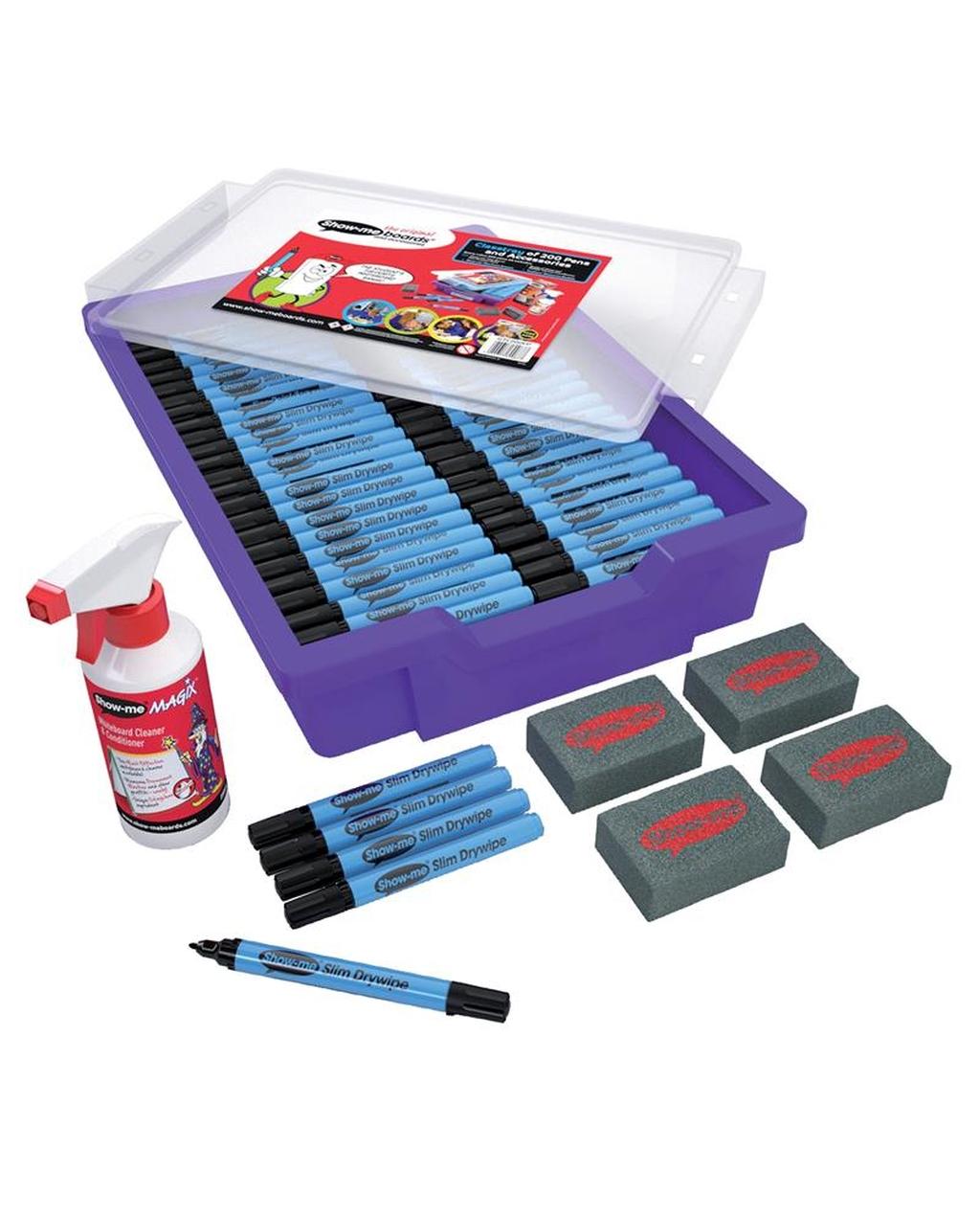 Show-Me Slim Barrel Drywipe Pens Fine - Black