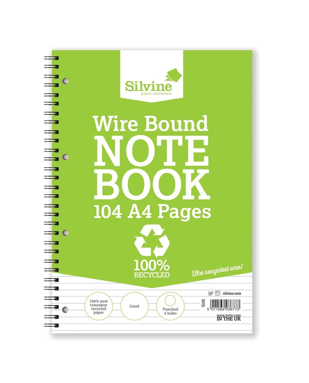 A4 Wirebound Recycled Notebook