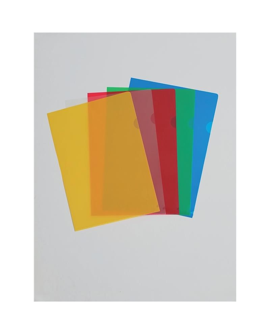 A4 Assorted Colours Cut Flush Folders