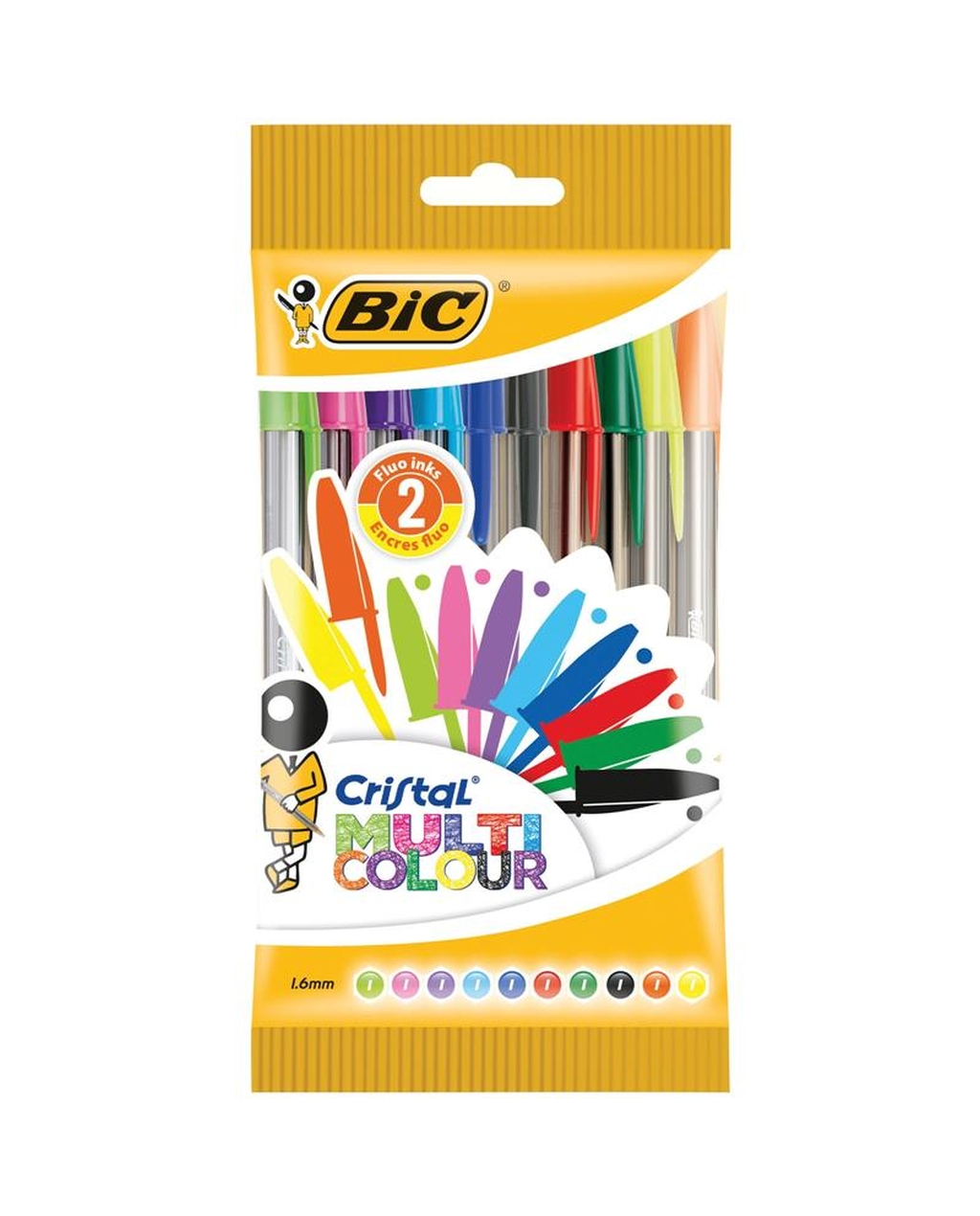 BIC Cristal Fun Ballpoint Pen - Assorted Colours