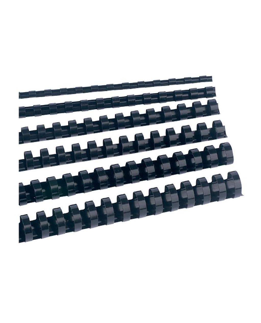 Black Plastic Combs 25mm Dia