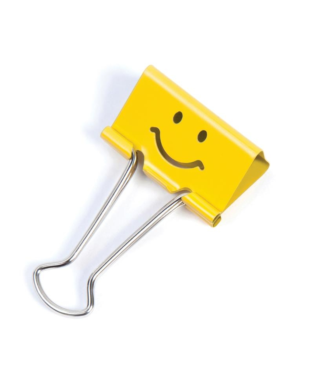 25mm Emoji Foldback Clips  Bright Yellow