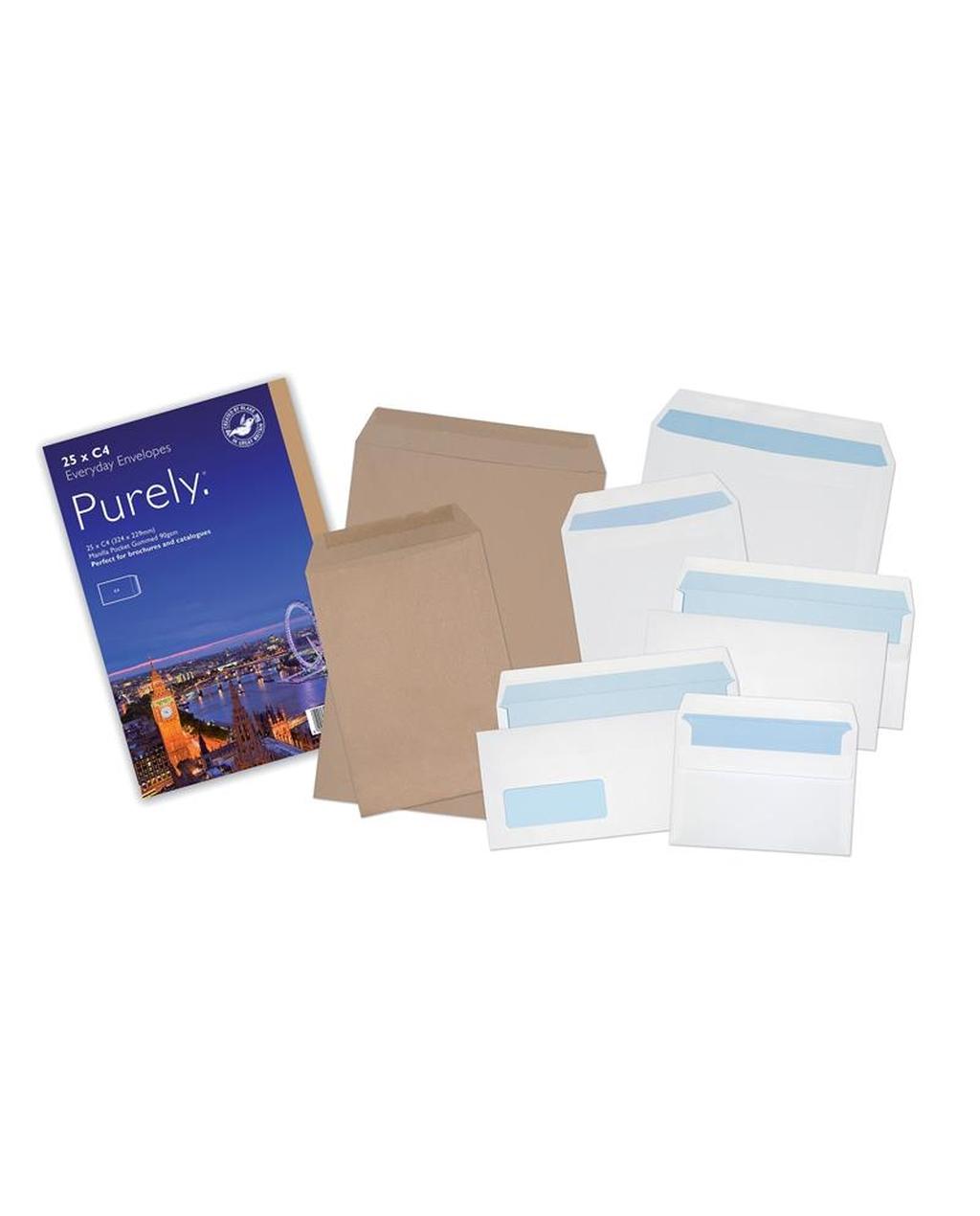 Assorted White & Manilla Envelopes