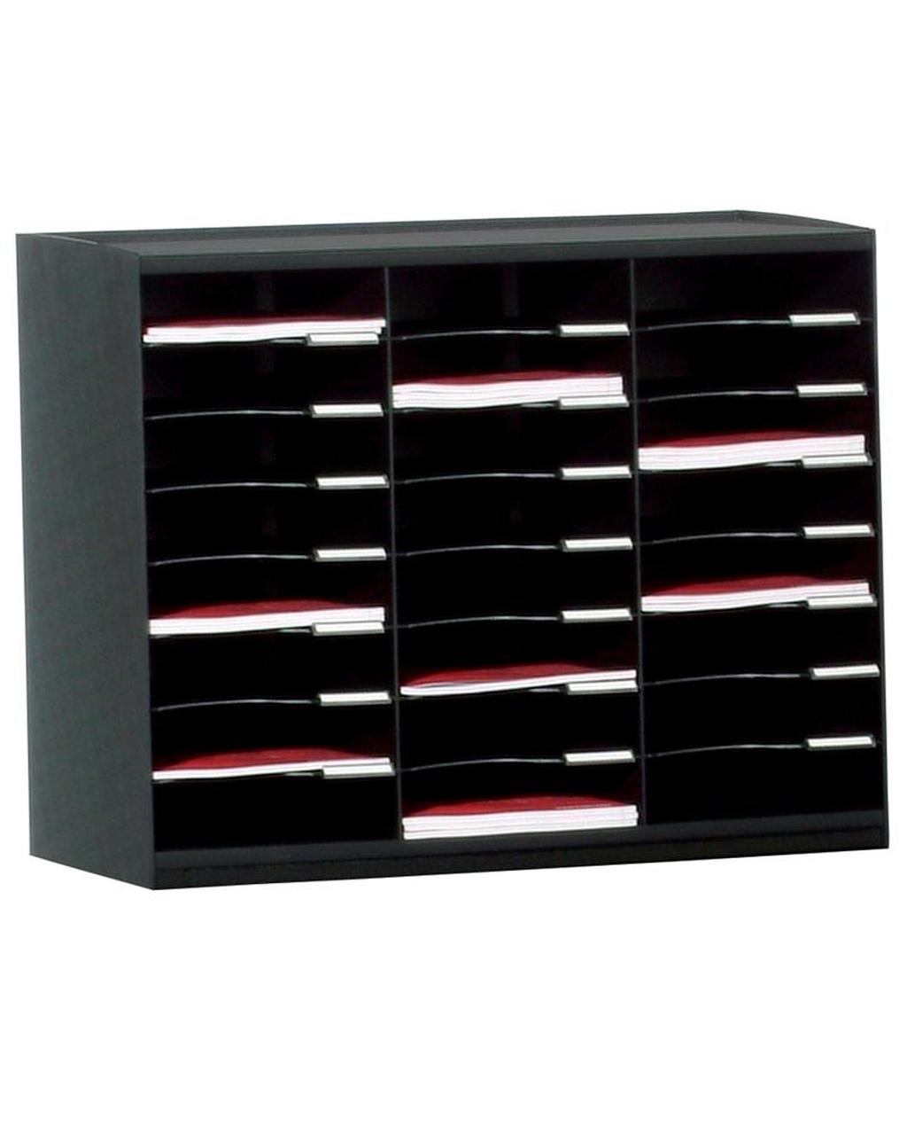 24 Compartment Mailsorter Black