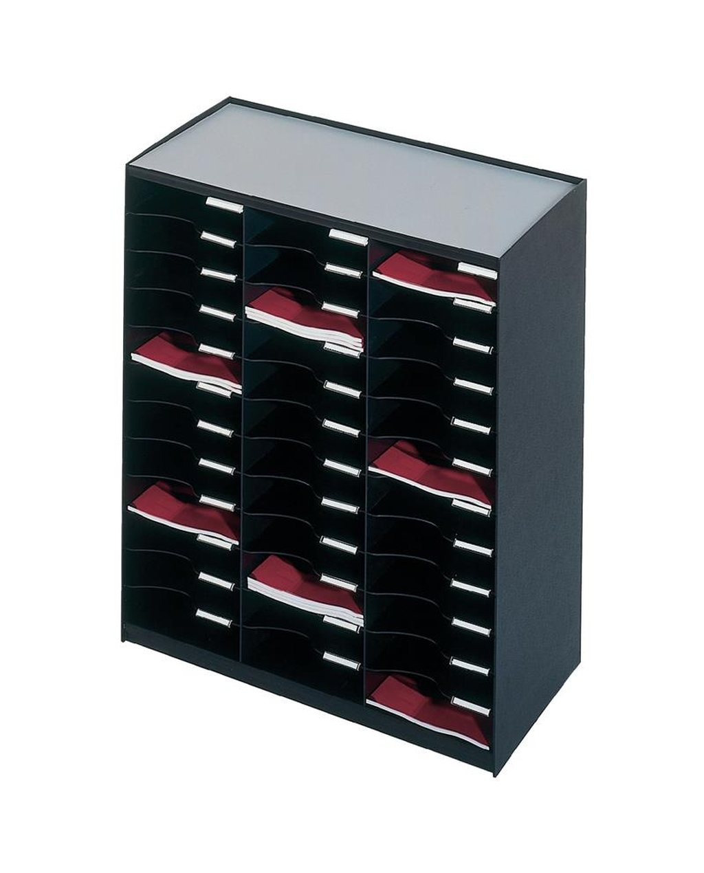 36 Compartment Mailsorter Black