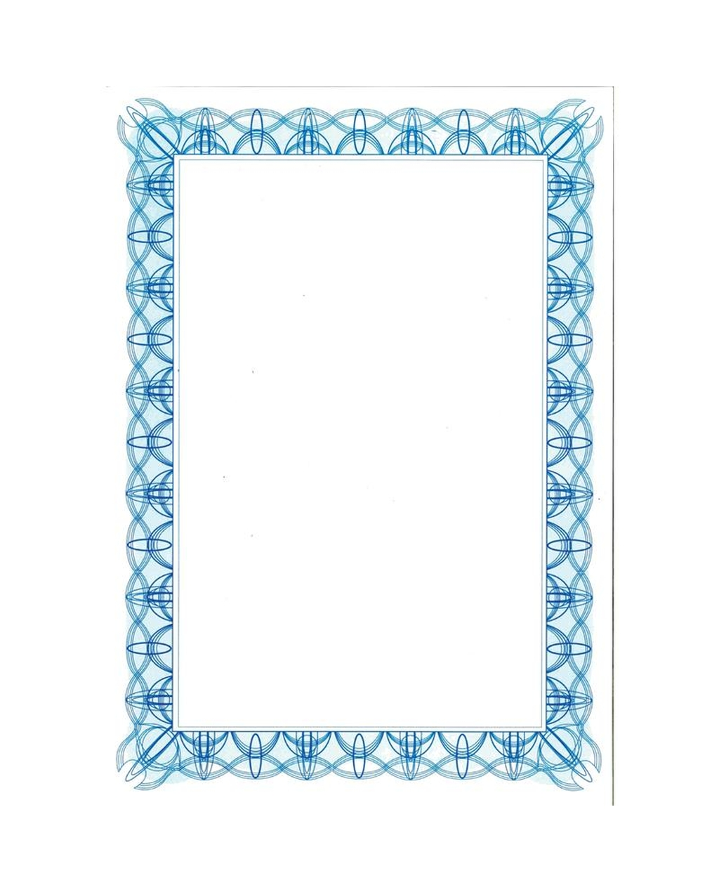A4 Certificate Blue Design