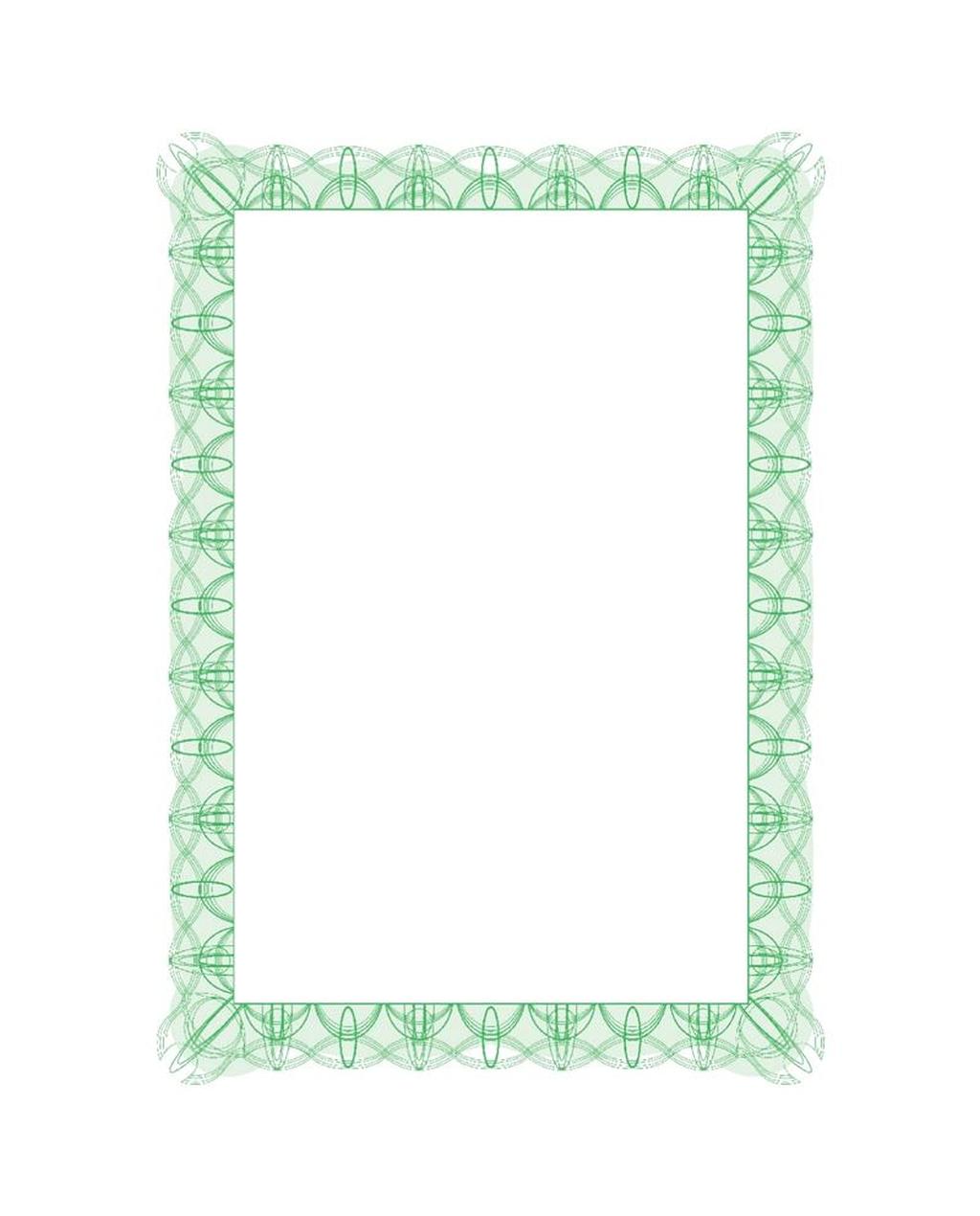 A4 Certificate Green Design