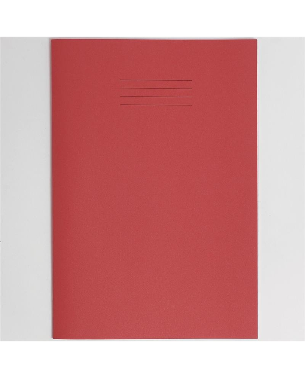 Exercise Book A4+ (330 x 250mm) Red Cover12mm Ruled 80 Pages