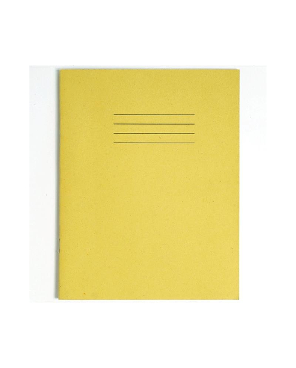 Exercise Book A4+ (330 x 250mm) Yellow Cover Plain - No Ruling 80 Pages