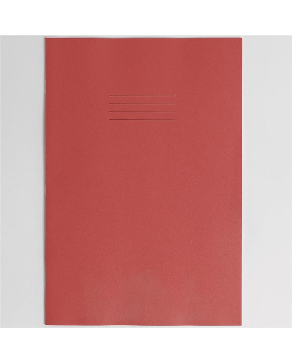Exercise Book A4+ (330 x 250mm) Red Cover Plain - No Ruling 80 Pages