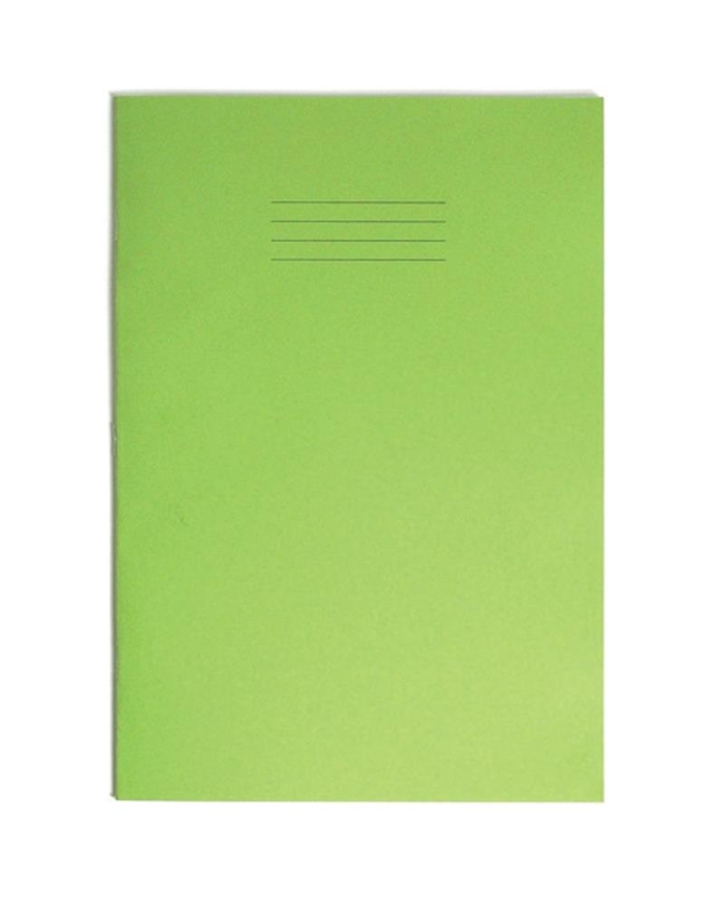 Exercise Book A4+ (330 x 250mm) Light Green Cover Plain - No Ruling 80 Pages