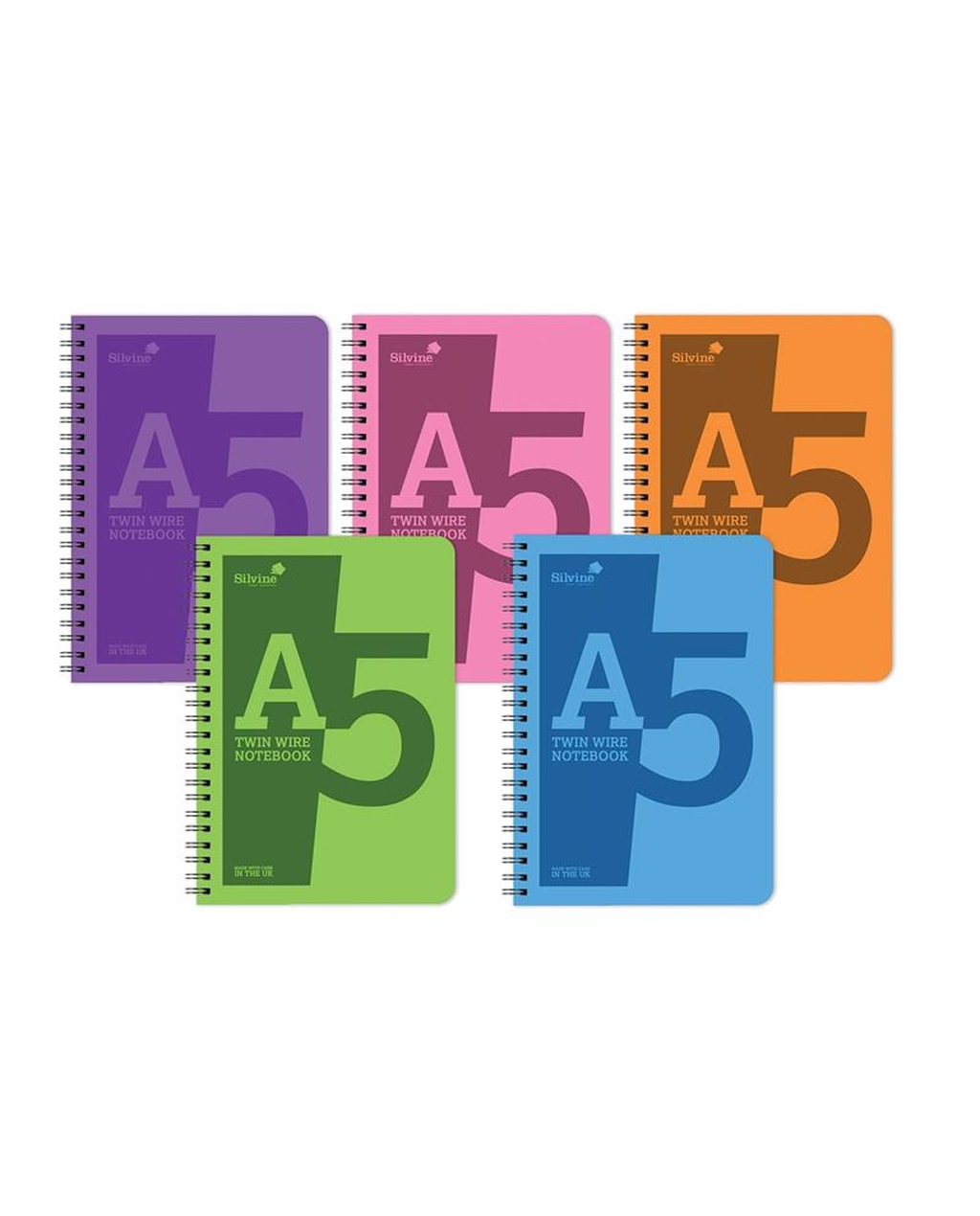 A5 Twin Wire Polyprop Notebook