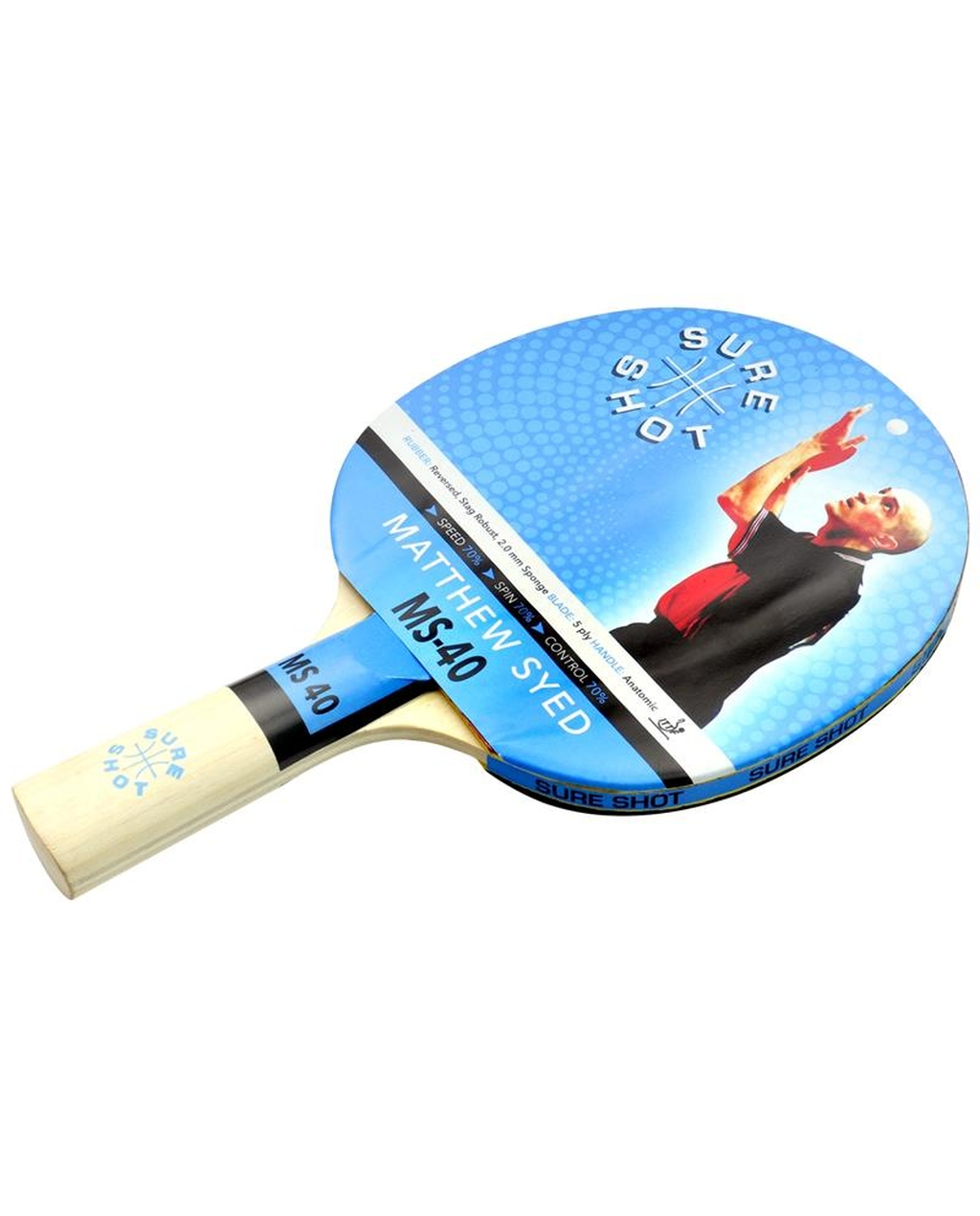 Matthew Syed Table Tennis Bat 40