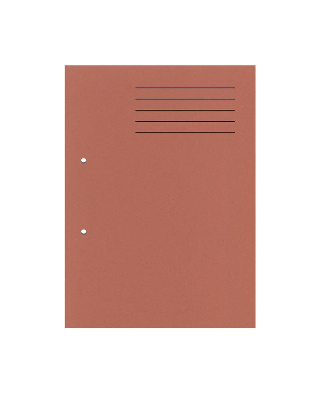 A4 Cut Flush Punched Folder - Orange