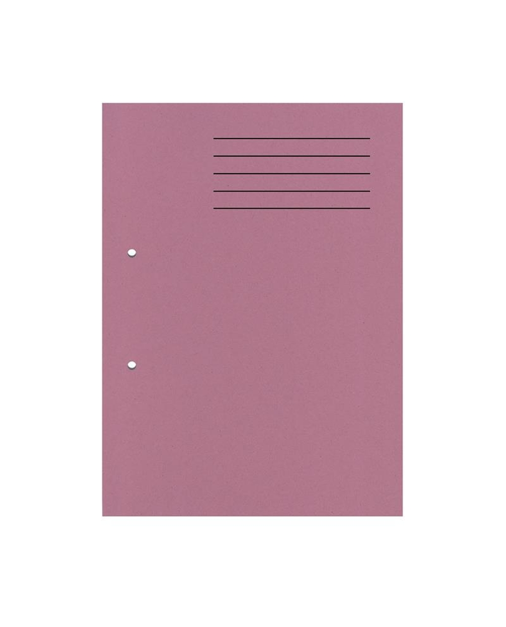 A4 Cut Flush Punched Folder - Pink