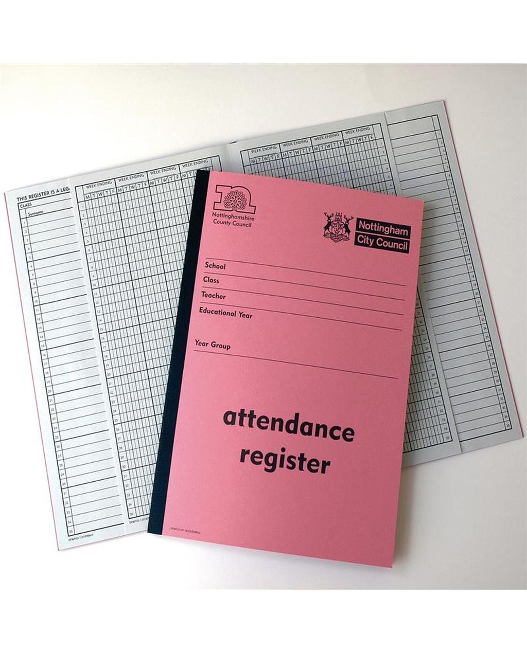 Class Attendance Register for Nottinghamshire Schools