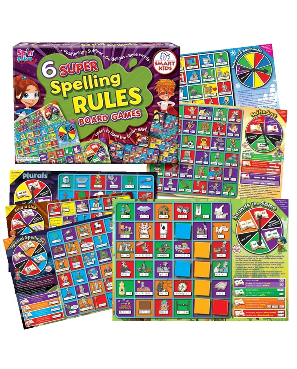 6 Super Spelling Rules Games