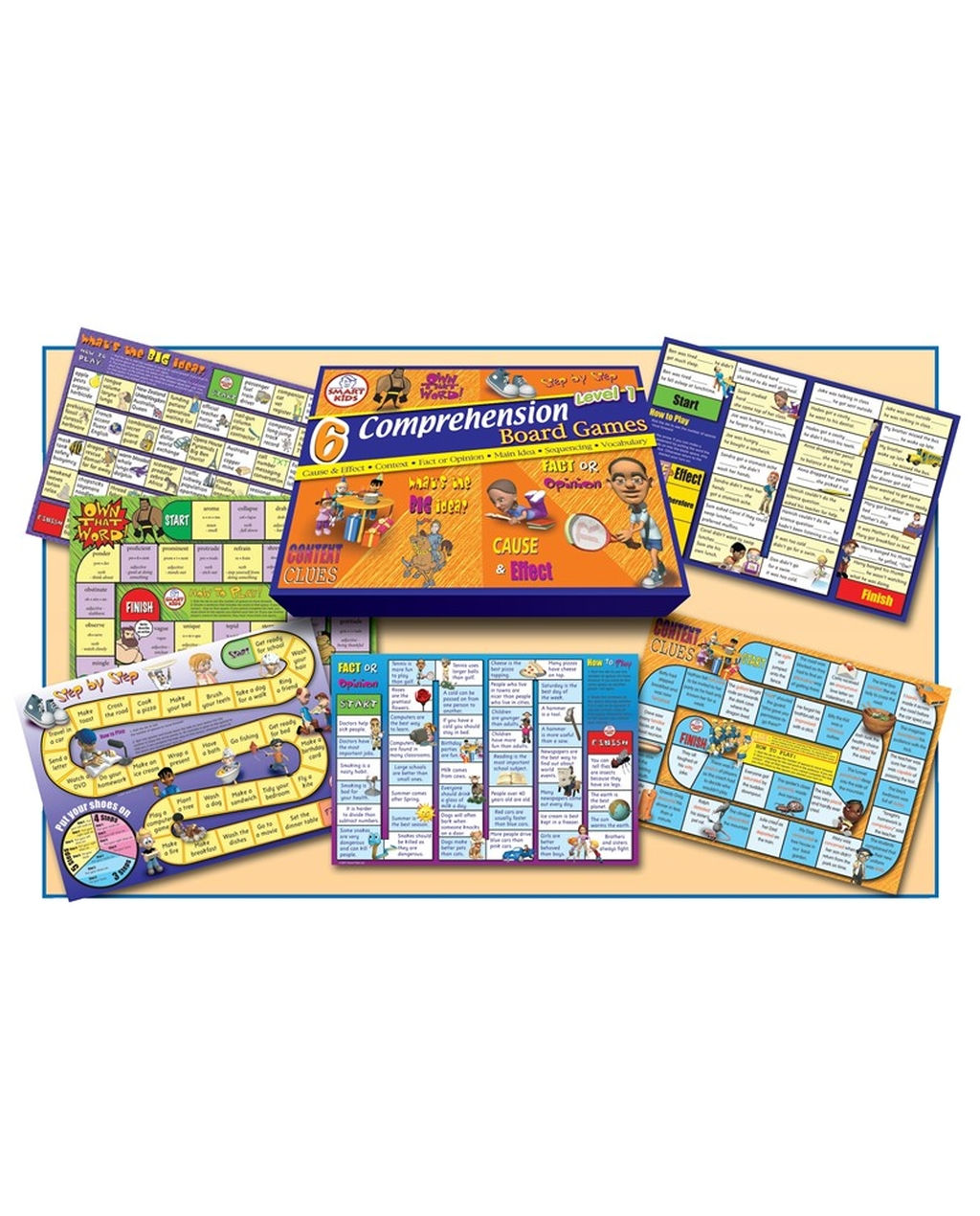6 Comprehension Games Level 1