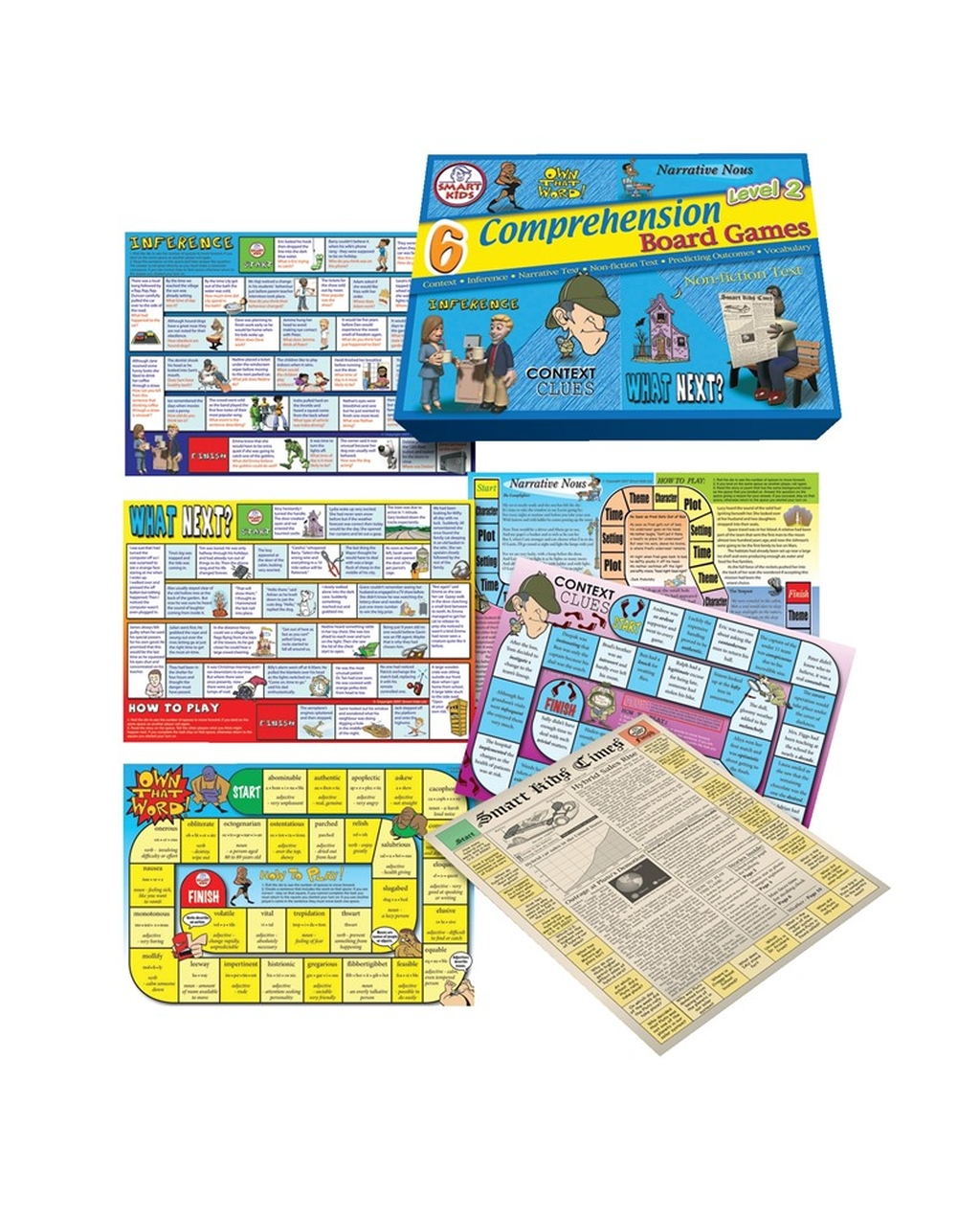 6 Comprehension Games Level 2