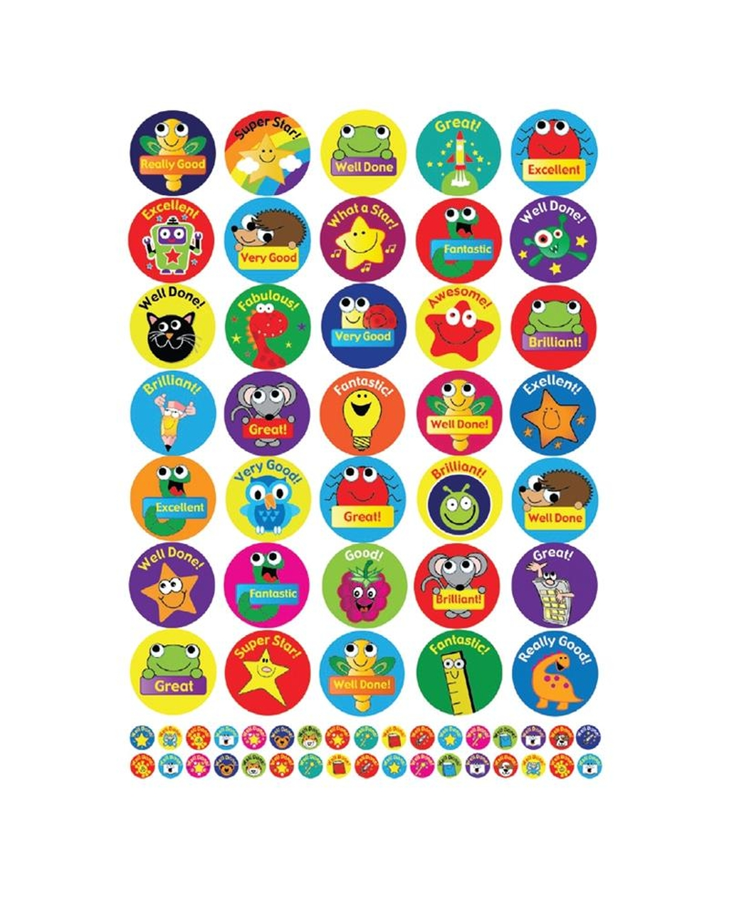 Animals, Stars and Gadgets Sticker Bumper Pack - 690 Stickers