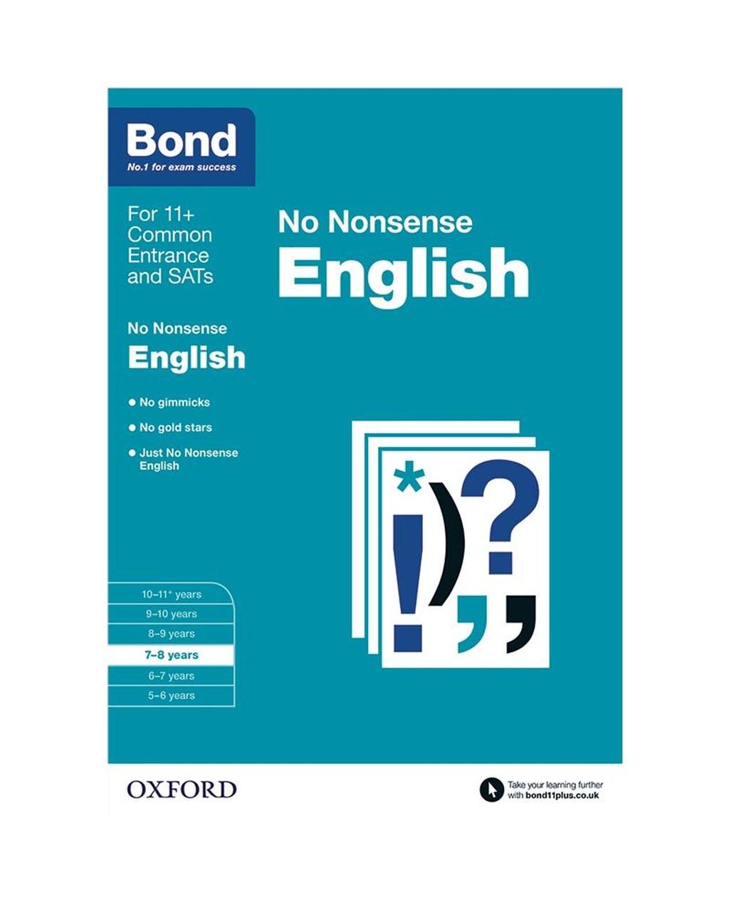 Bond: English No Nonsense 7-8 Years