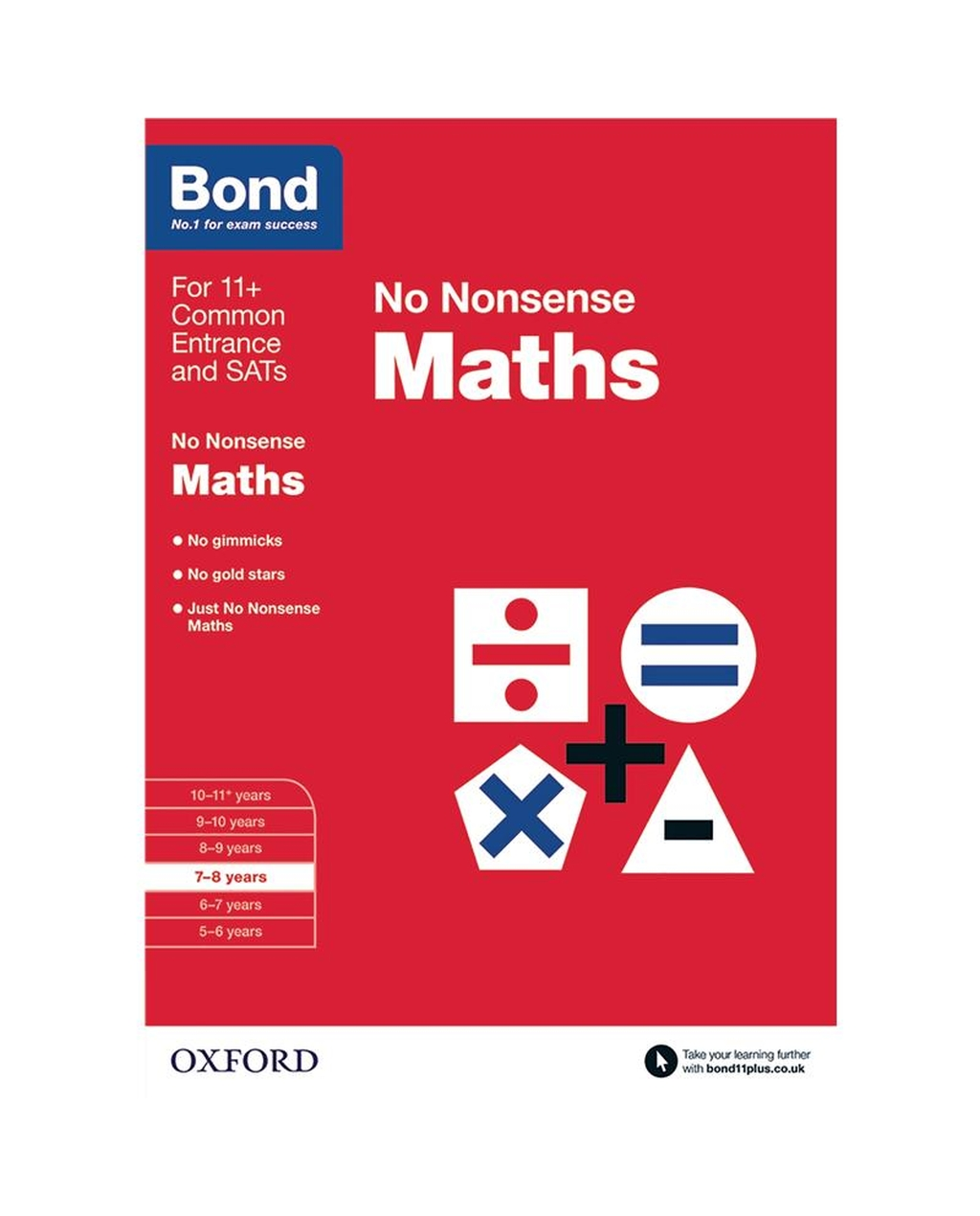 Bond: Maths No Nonsense 7-8 Years
