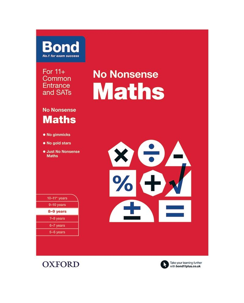 Bond: Maths No Nonsense 8-9 Years