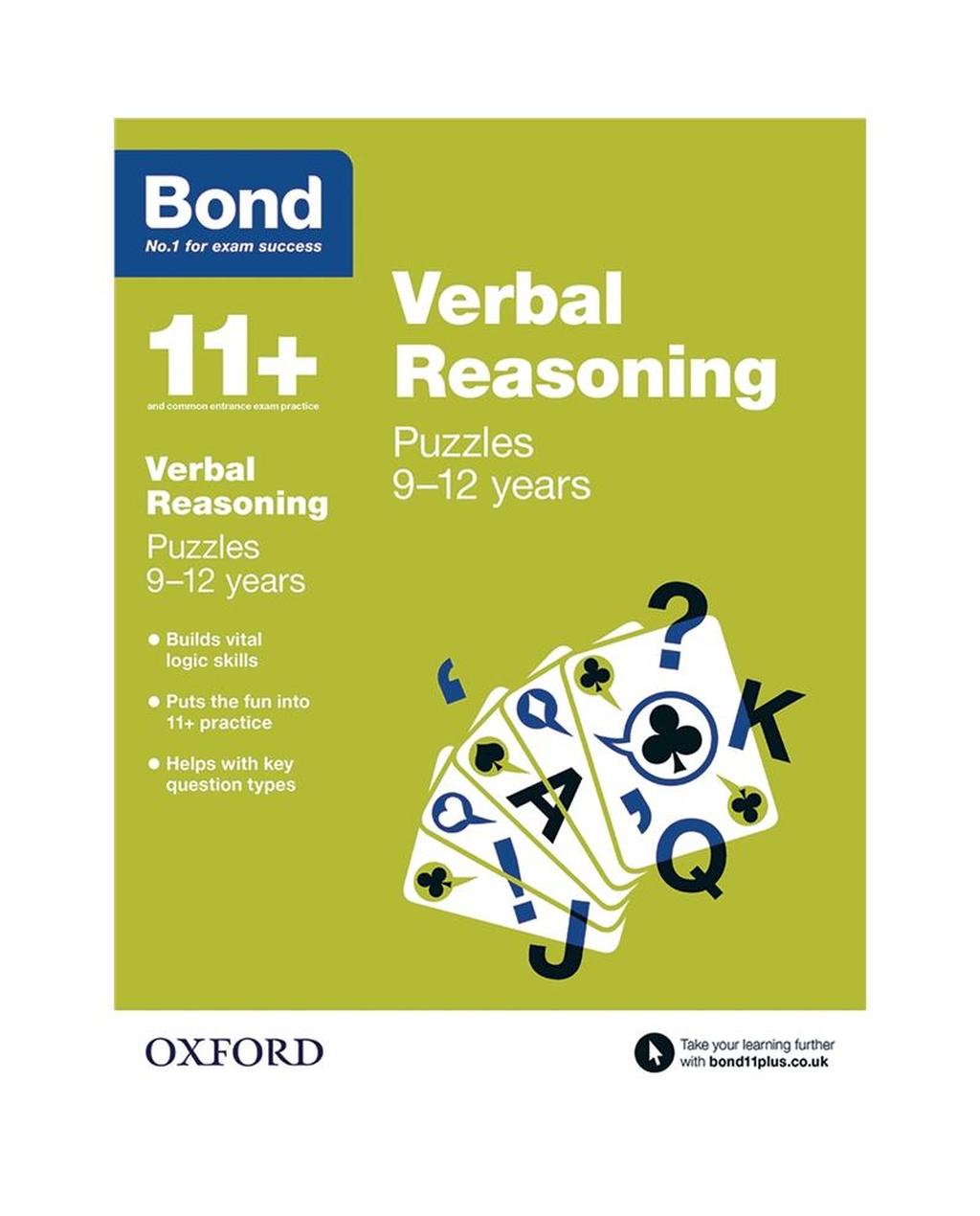 Bond Reasoning Puzzles Verbal Reasoning 9-12 years