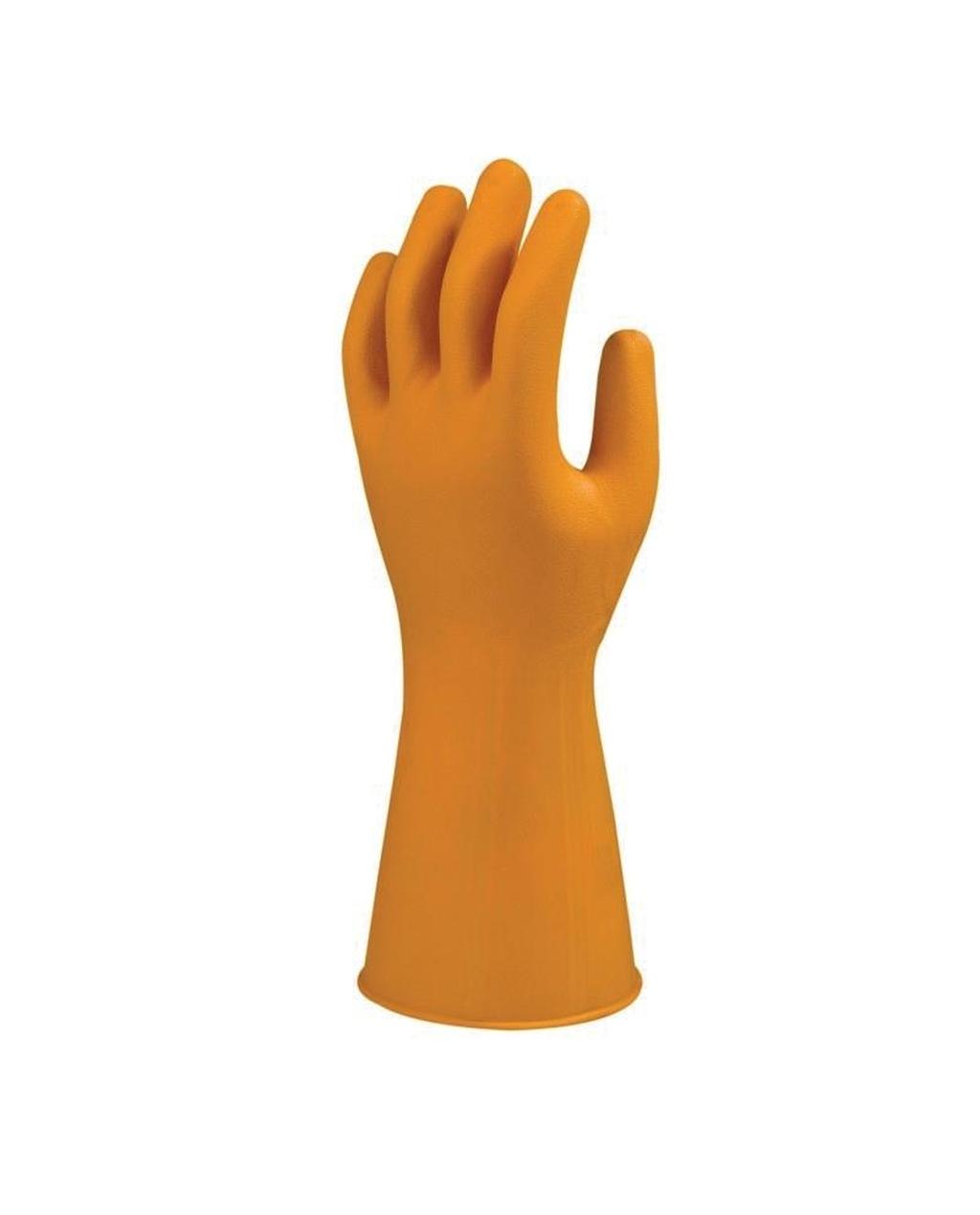 Heavy Duty Orange Latex Household Gloves Small