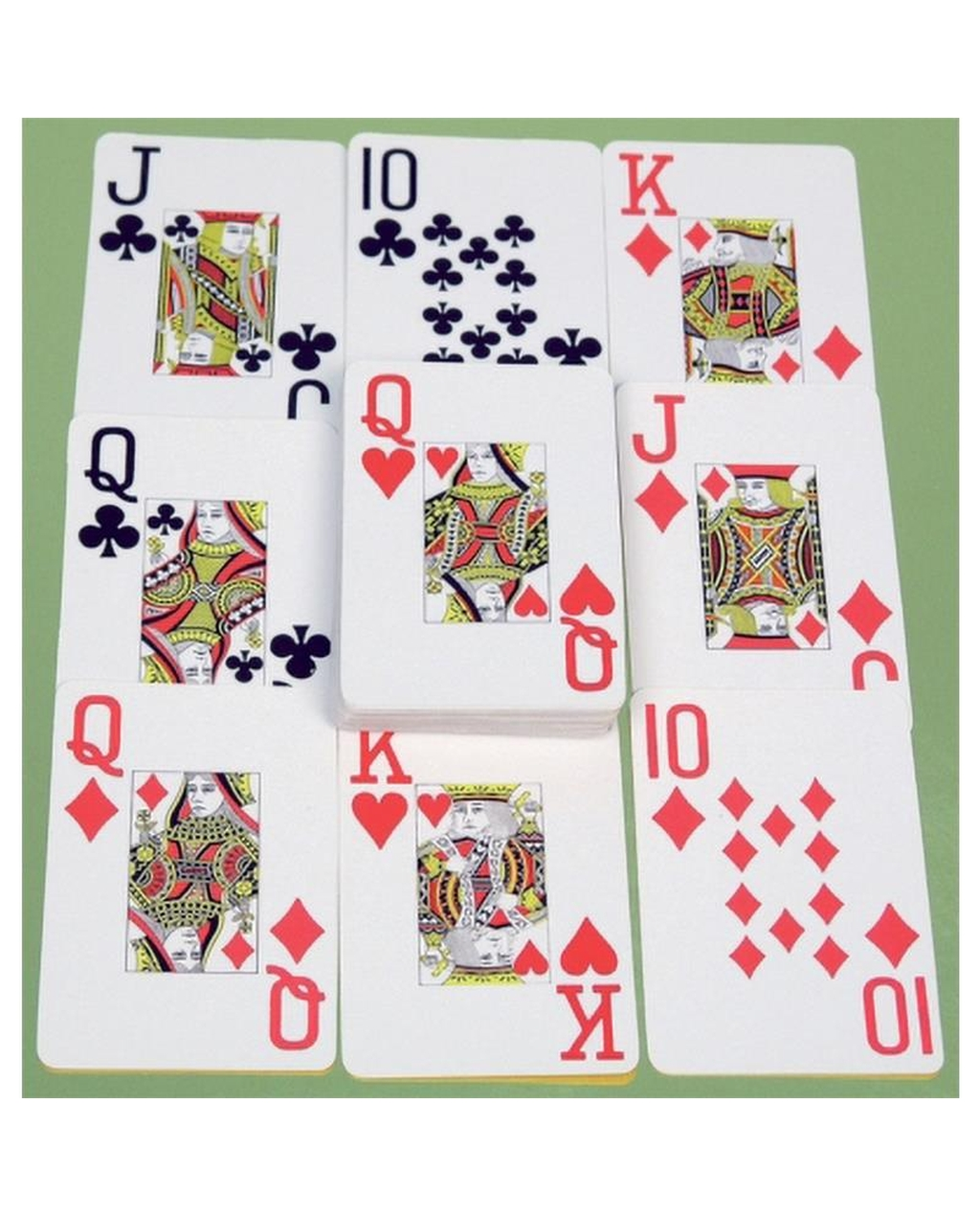 Large Indices Playing Cards