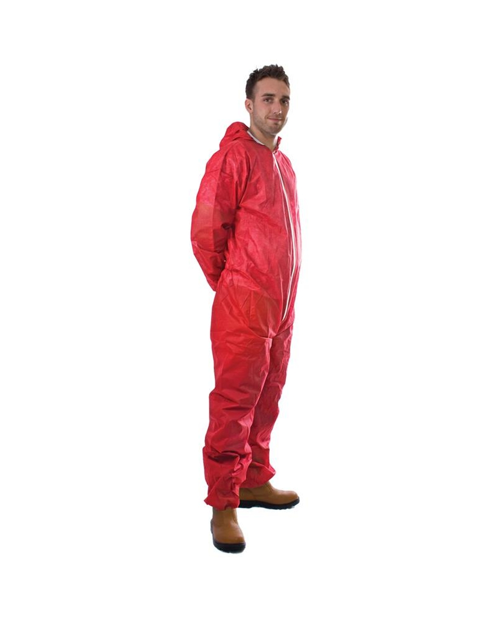 Non-Woven Coverall - Red, Extra Large