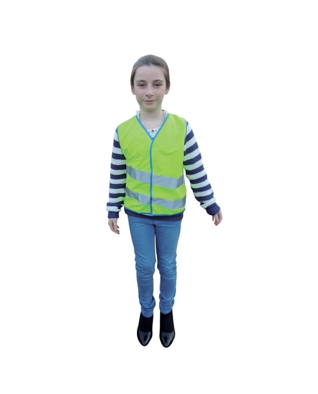 Children's Hi Vis Waistcoat Green Medium