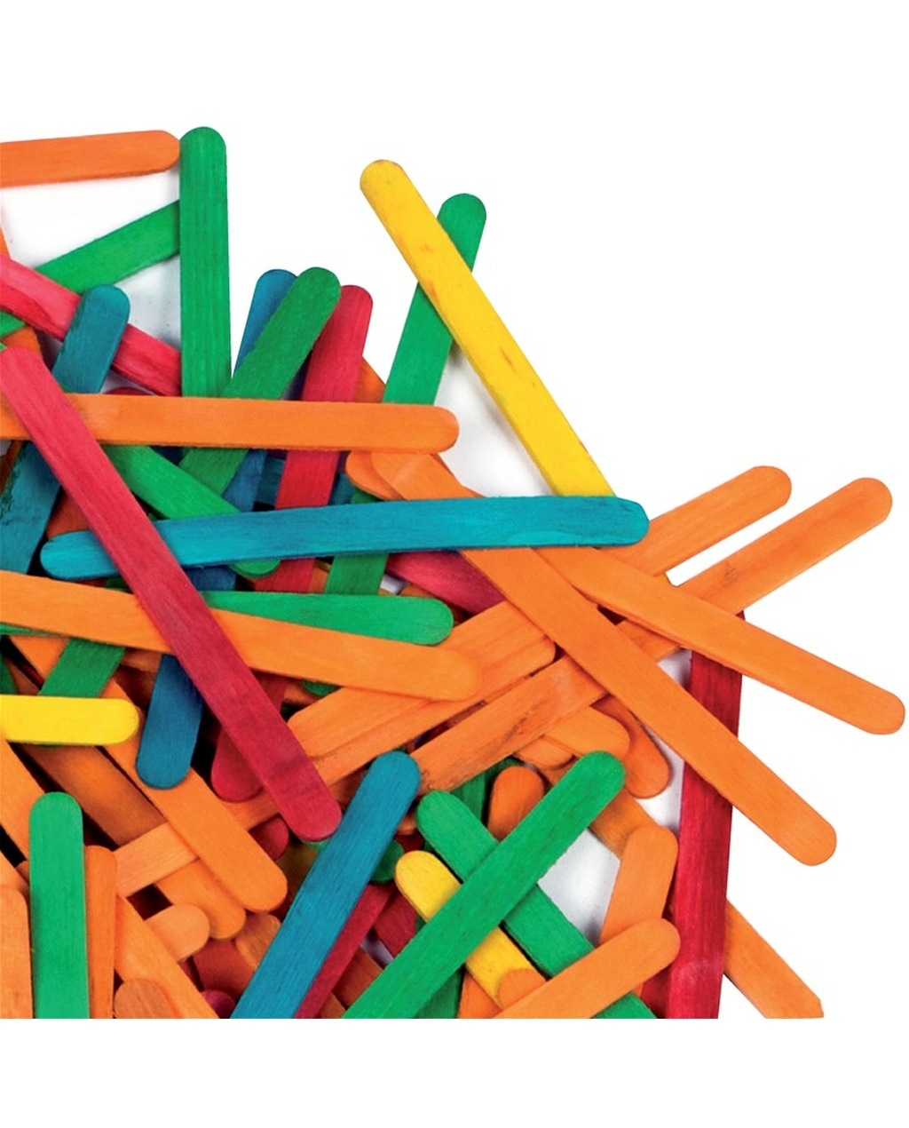 Lollipop Sticks Assorted Colours 11mm x 115mm