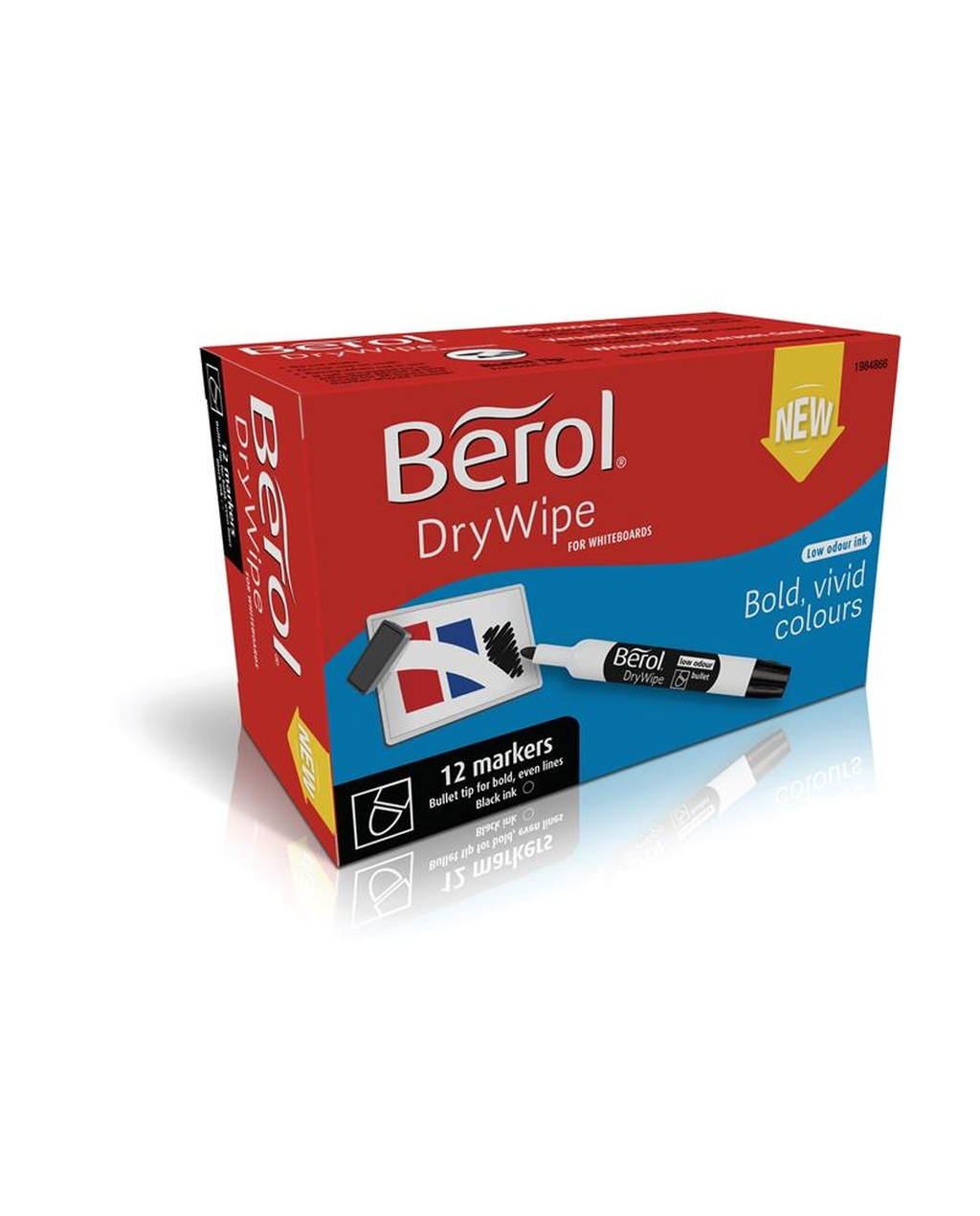 Berol Drywipe Marker Bullet Tip - Black