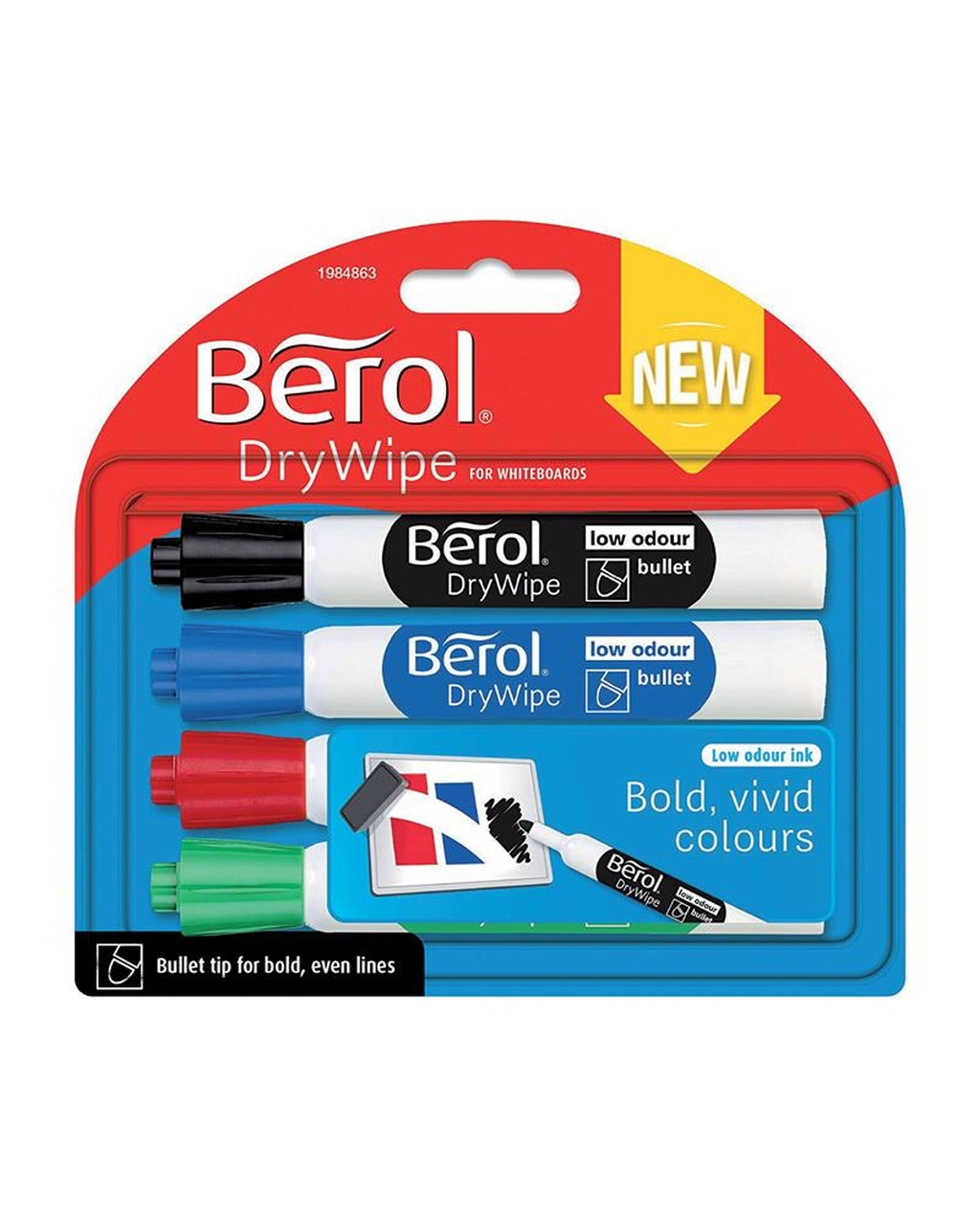 Berol Drywipe Marker Bullet Tip - Assorted Colours
