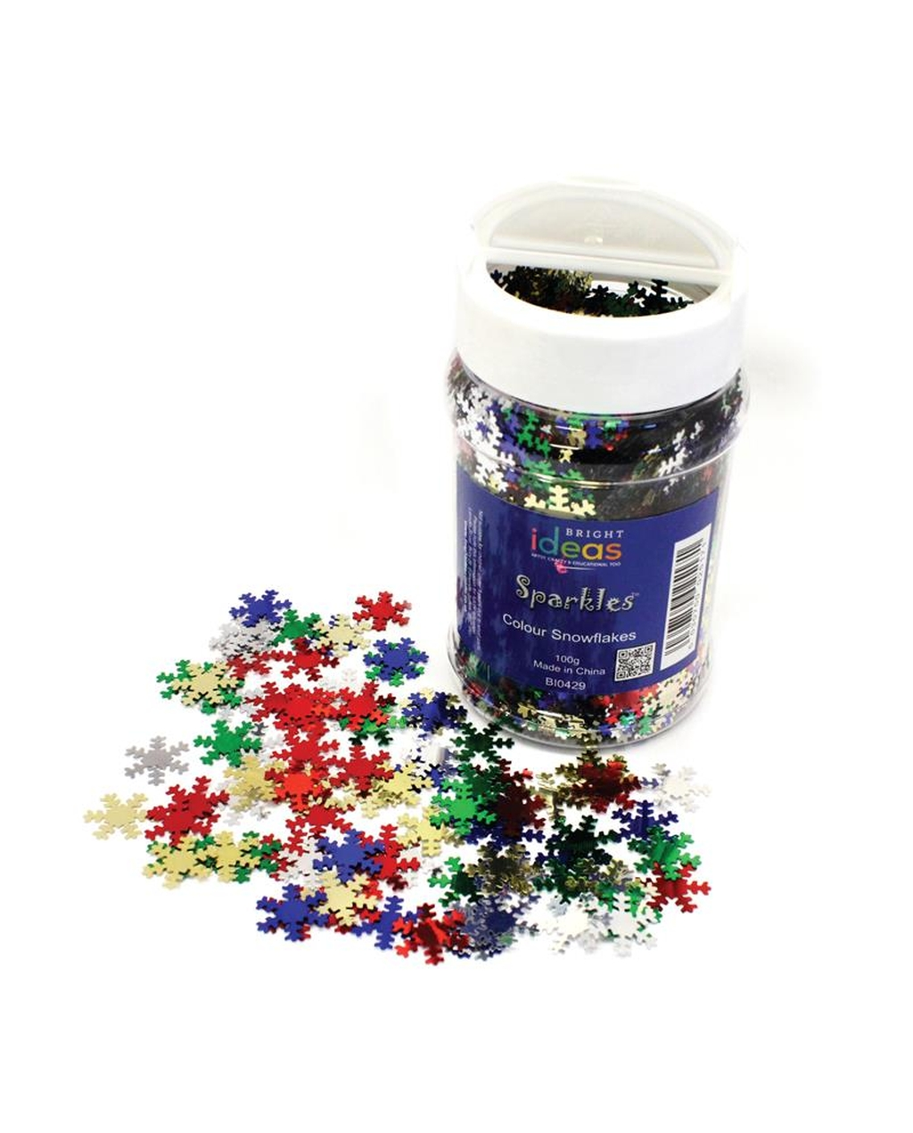 Multicoloured Snowflakes 100g